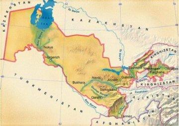 Географическое положение Узбекистана