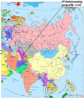 Узбекистан на политической и экономической картах мира