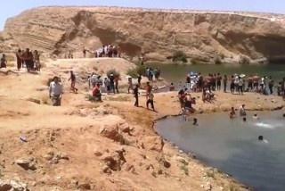 За сутки в пустыне Туниса образовалось уникальное озеро