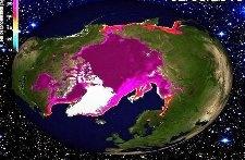 Рекордно низкая площадь льда в Арктике