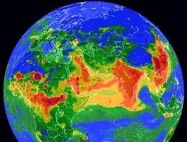 Создан интерактивный глобус загрязнения воздуха Земли